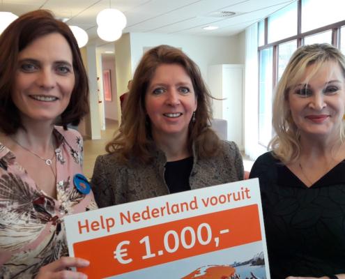 Help NL vooruit schenkt 1000 euro